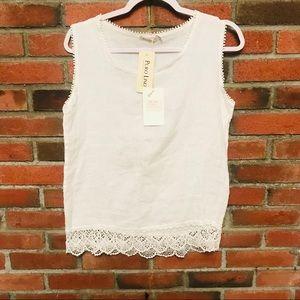 Sleeveless made in Italy linnen blouse
